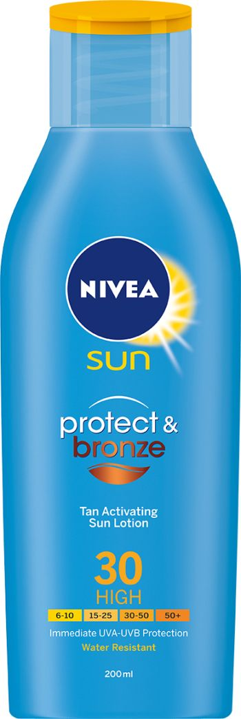 NIVEA SUN PROTECT & BRONZE LOTION SPF 20 200ml Height: 17,9cm