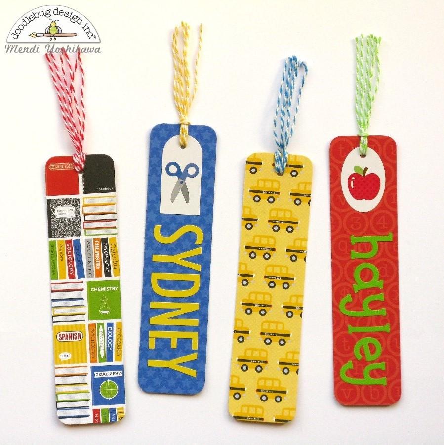 back to school kids crafts bookmarks stil de vedeta